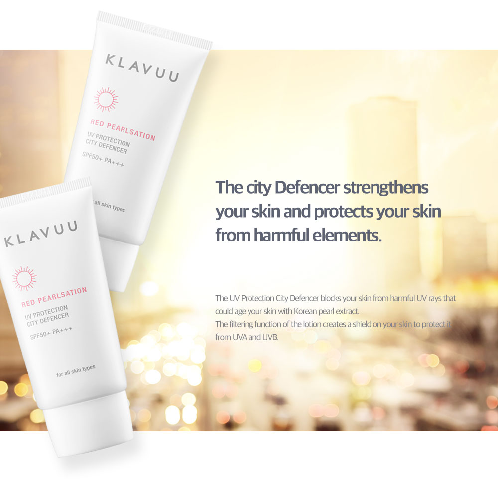 [ klavuu ] RED PEARLSATION UV Protection City Defencer SPF50+ PA+++ (Sunscreen, 50g)