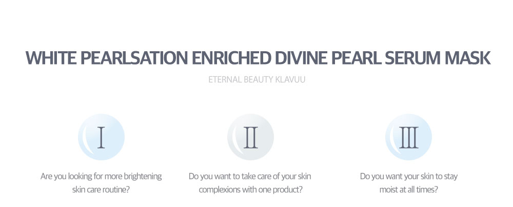 [ klavuu ] WHITE PEARLSATION Enriched Divine Pearl Serum Mask (27g*5 Sheets)