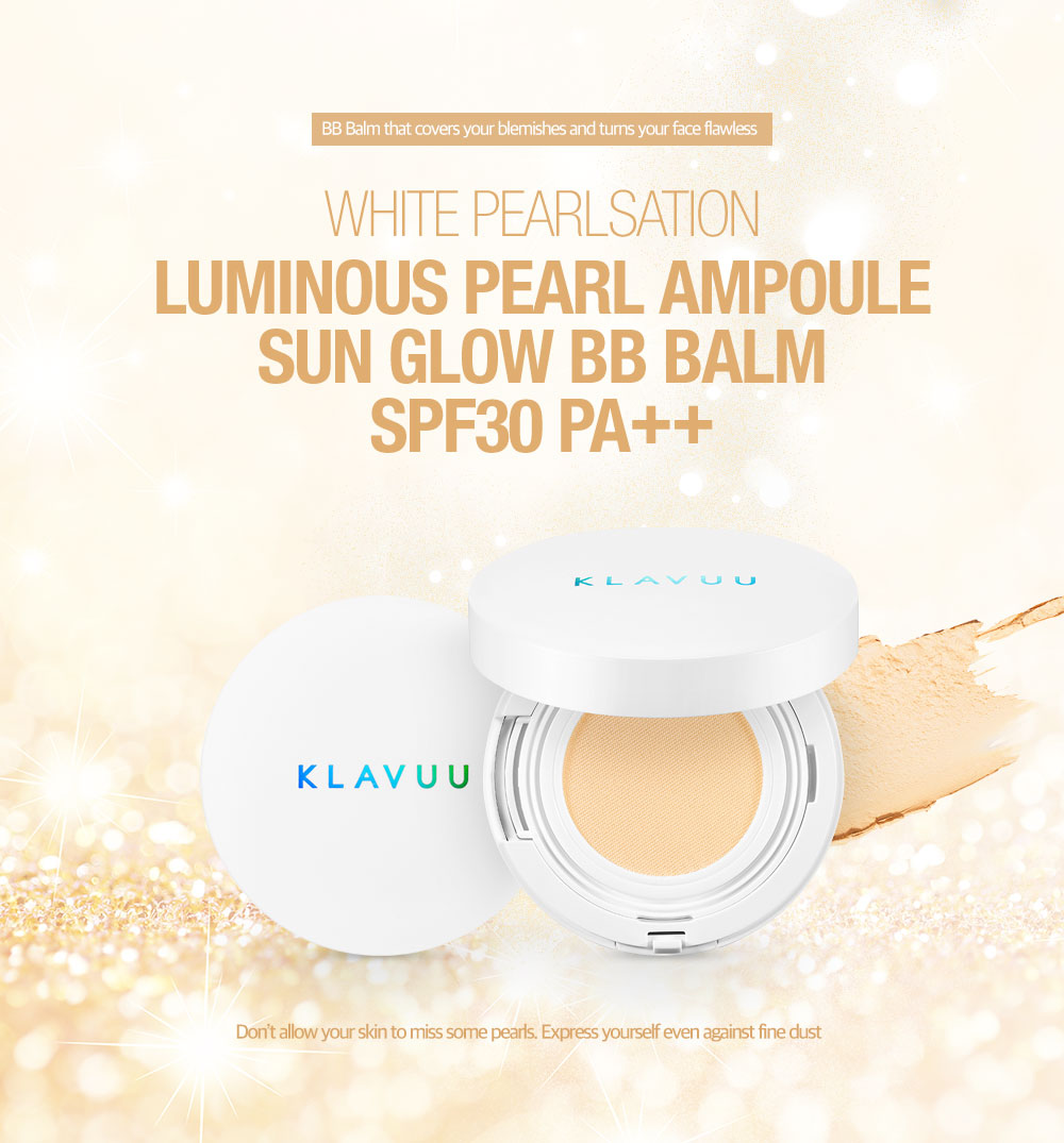 [ klavuu ] WHITE PEARLSATION Luminuous Pearl Ampoule Sun Glow BB Balm SPF30 PA++ ( BB compact, 11g)
